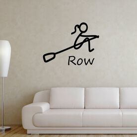 Crew Stick Figure with Word Removable ChalkTalkGraphix Wall Decal
