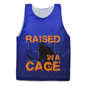 Lacrosse Pinnie - Raised In a Cage