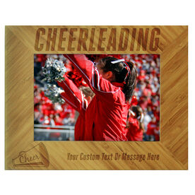 Cheerleading Bamboo Engraved Picture Frame Cheerleading
