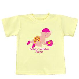 Softball Baby T-Shirt Future Softball Player Girl