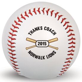 Personalized Thanks Coach Baseball