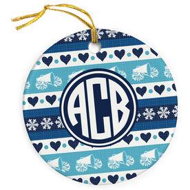 Cheerleading Porcelain Ornament Monogrammed Cheer Christmas Sweater
