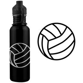 Volleyball Ball 24 oz Stainless Steel Water Bottle