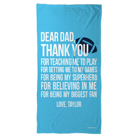 Football Beach Towel Dear Dad