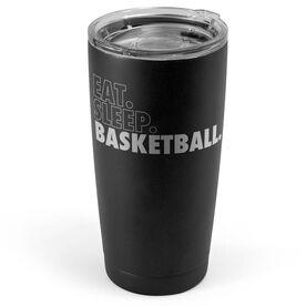 Basketball 20 oz. Double Insulated Tumbler - Eat Sleep Basketball