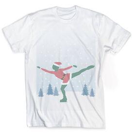 Vintage Figure Skating T-Shirt - Santa Figure Skater