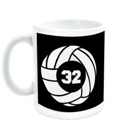 Volleyball Ceramic Mug Team Number