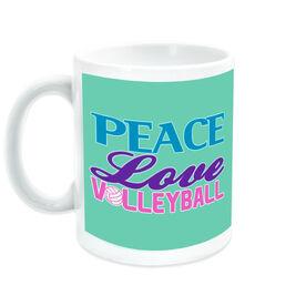 Volleyball Ceramic Mug Peace Love Words
