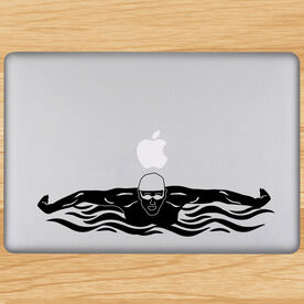 Butterfly Swimmer Removable ChalkTalkGraphix Laptop Decal