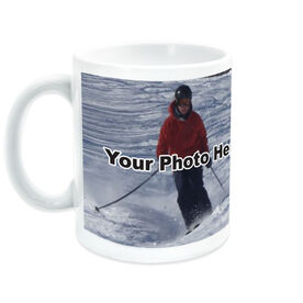 Skiing Ceramic Mug Custom Photo