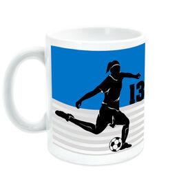 Soccer Ceramic Mug Personalized 2 Tier Girl
