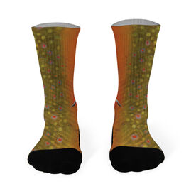 Fly Fishing Printed Mid Calf Socks Brook Trout
