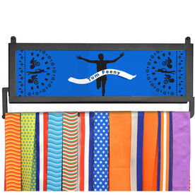 TriathletesWALL Personalized Finish Line Male Medal Display