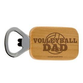Volleyball Dad Maple Bottle Opener