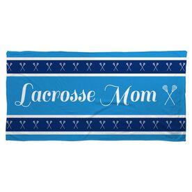 Lacrosse Beach Towel Mom Stripe