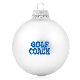 Golf Glass Ornament Golf Coach