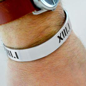 13.1 Half Marathon Roman Numeral Mens Cuff Bracelet