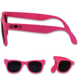 Foldable Soccer Sunglasses Peace Love Soccer