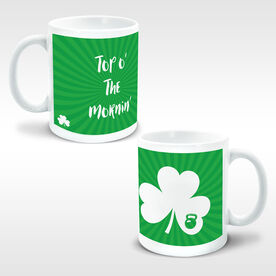 Cross Training Ceramic Mug Shamrock With Kettlebell Cutout