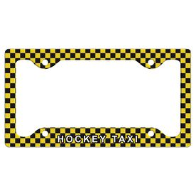 Hockey Taxi License Plate Holder
