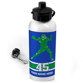 Football 20 oz. Stainless Steel Water Bottle Personalized Football Quarterback