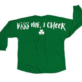 Cheerleading Statement Jersey Shirt Kiss Me I Cheer