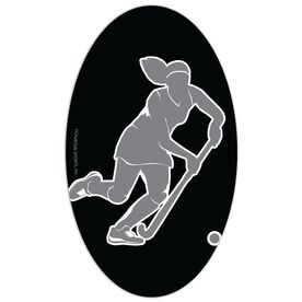 Field Hockey Oval Car Magnet Player