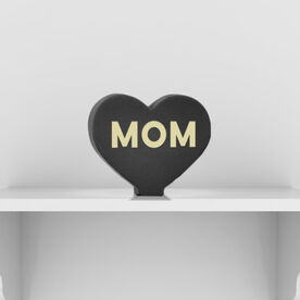 Engraved Wood Words - Mom Heart
