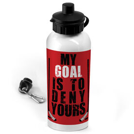 Hockey 20 oz. Stainless Steel Water Bottle My Goal Is To Deny Yours