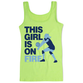 Volleyball Women's Athletic Tank Top This Girl Is On Fire