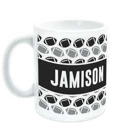 Football Ceramic Mug Personalized Pattern