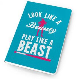 Softball Notebook Look Like A Beauty, Play Like A Beast