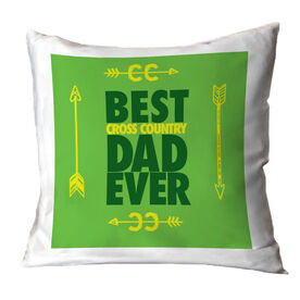 Cross Country Pillow Best Dad Ever