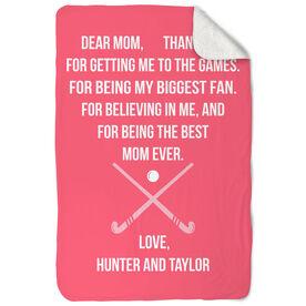 Field Hockey Sherpa Fleece Blanket - Dear Mom Heart