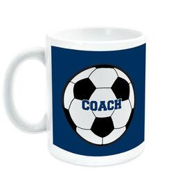 Soccer Ceramic Mug Coach