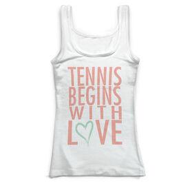 Tennis Vintage Fitted Tank Top - Tennis Begins With Love