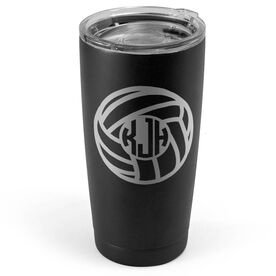 Volleyball 20 oz. Double Insulated Tumbler - Monogram Ball