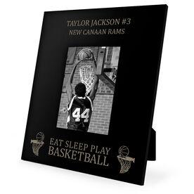 Basketball Engraved Picture Frame - Eat Sleep Play Basketball