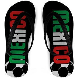 Soccer Flip Flops Mexico
