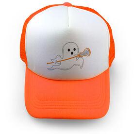 Girls Lacrosse Trucker Hat Ghost