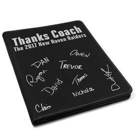 Swimming Executive Portfolio - Thanks Coach with Signatures