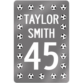 """Soccer Aluminum Room Sign Personalized Soccer Ball Sign (18"""" X 12"""")"""