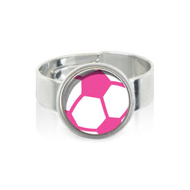 Pink Soccer Ball SportSNAPS Ring