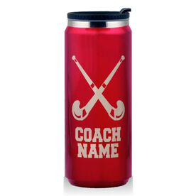 Stainless Steel Travel Mug Field Hockey Coach