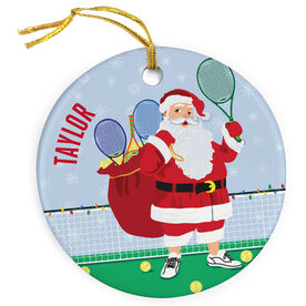 Tennis Porcelain Ornament Santa