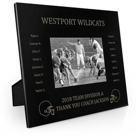 Football Engraved Picture Frame - Team Name With Roster
