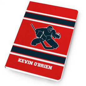 Hockey Notebook Personalized Hockey Goalie