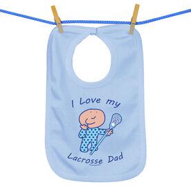 Baby Bib I Love My Lacrosse Dad