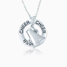 Cheer Ring and Megaphone Charm Necklace