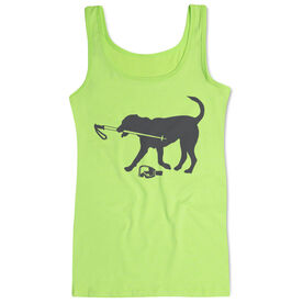 Skiing Women's Athletic Tank Top Sven The Ski Dog